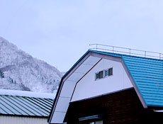 屋根雪落雪システム